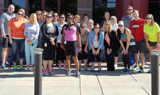 "Healthcare Support Team members participate in National ""Get Fit Don't Sit"" Day"