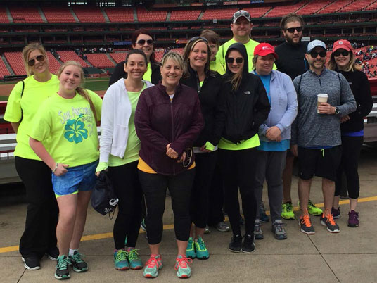 St. Louis, Missouri team members walk for heart health